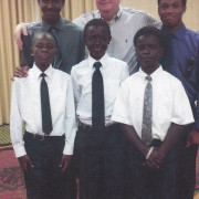 Optimist Member Don Golden with the Young Men